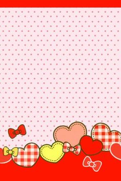 By Artist Unknown. Baby Wallpaper, Hello Kitty Wallpaper, Heart Wallpaper, Mobile Wallpaper, Pattern Wallpaper, Wallpaper Backgrounds, Iphone Wallpaper, Scrapbook Paper, Scrapbooking