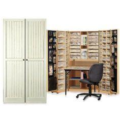 Original Scrapbox Workbox Vanilla Bead Board Scrapbooking Storage Cabinet (Office Product)   ***I need this!!***