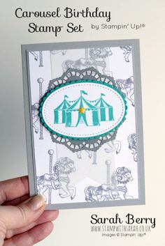 For this hope our theme is Cupcakes & Carousels, for those of you who aren't familiar with Stampin' Up!, this is the name of a suite that can be found in the Spring/Summer / Occasions Catalogues.