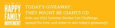 Summer Bucket List Challenge – 5/24/12 Giveaway