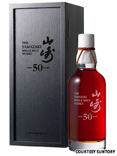 Japan Suntory Single Malt Whisky 50 years old and over $12,000 per bottle