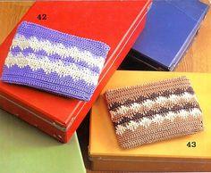Monedero tejido al crochet - con diagramas explicativos | Crochet y dos agujas