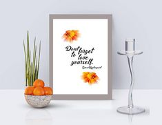 Don't Forget to Love Yourself -Mother's Day Gift.