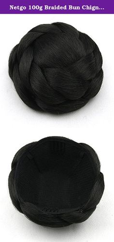 Netgo 100g Braided Bun Chignon Synthetic Hair Bun Hair Extensions Hair Pieces women Various Color. Material: Synthetic Hair Bun Extension Donut Chignon Hairpiece Wig The Product are made from 100% Korean High Quality Syntheitc Heat-Resistant Fiber, which makes it looks and fells like Real Human Hair. Because it is designed to be easy and comfortable to use, you can easily wear it without any extra help. This product is washable and can be permed. Clip in hair extensions care instruction…