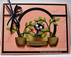 Michelle Zindorf: Freedom in Creating - @onecoolcat – Stampin' Up! Card and Special 3 Day Deal with Purchase - 8/3/14 (SU stamp: You Little Furball/ @Sosocial).