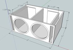 I have a 2000 Honda Civic coupe and want to put in a pair of Alpine 12 inch subwoofers in a ported box. I want to go slot ported with each sub gett. Diy Subwoofer, 15 Inch Subwoofer Box, Custom Subwoofer Box, Subwoofer Box Design, Speaker Box Design, 12 Inch Sub Box, 12 Sub Box, Sub Box Design, Ported Box