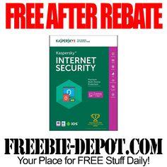 ►► FREE AFTER REBATE - Kaspersky Internet Security 2016 - 3 Devices - $80 Value - Exp 3/12/16 ►► #FreeAfterRebate, #FREESoftware, #FREEbate, #FrysCom ►► Freebie-Depot