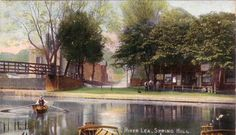 River Lea at bottom of Springhill Clapton London History, Spring Hill, Old London, Family History, Old Photos, River, Park, Image, Inspirational
