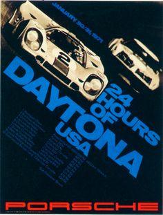 24 Hours of Daytona (1971) - Vintage Porsche Posters