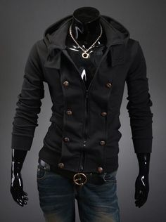 Basic Button Accented Hoodie
