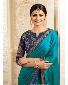 Silk Saree With Embroidered Blouse