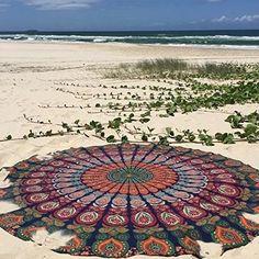 Beach Boho Chic Round Beach Blanket