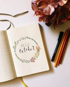 Hello October  Excited for the start of a new month and a new Bullet Journal  . . . #bulletjournal #bulletjournaljunkies #wearebujo #bulletjournalcommunity #bulletjournalenespañol #planner #planneradict #plannercommunity #leuchtturm1917 #fabercastell #staedtler #showmeyourplanner #planwithmechallenge