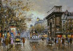 Antoine Blanchard  (1910 - 1988)  Porte St. Martin