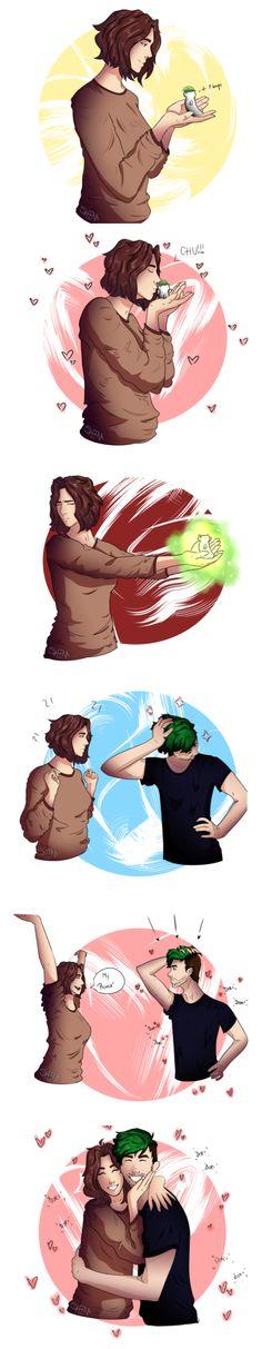 Wiishu, Grayson/Jacksepticeye| Artist Credit: sheenathefantasist. SO CUTE!!!