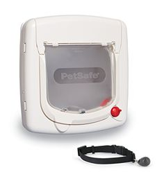 PetSafe Magnetic Key 4Way Locking Cat Door ExteriorInterior White -- Want additional info? Click on the image.