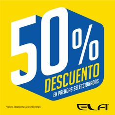 #ShoppingDay No te pierdas HOY en #ELA y hasta el 23 de noviembre 2014, #descuentos hasta del 50% en prendas seleccionadas. Alamedas CC #Piensaenti