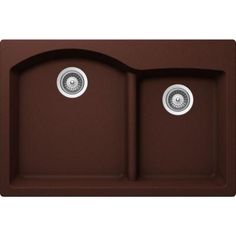 SCHOCK EDO Top Mount Granite Composite 33 in. 0-Hole 70/30 Double Bowl Kitchen Sink in Copper-EDON175T009 - The Home Depot