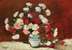 Carnations : Stefan Luchian : circa 1907 : Archival Quality Art Print for sale online Canvas Art Prints, Framed Art Prints, Fine Art Prints, Art Floral, Van Gogh, World Map Wall Art, Art Prints For Sale, Famous Art, Affordable Art