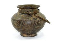 19c Antique fine detailed Brass Hindu ritual Water Pot Kalash Lota. G7-653 #Unbranded #Vintage