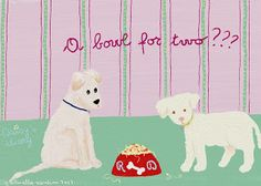 Cani in Cornice: A bowl for two???..Daisy's diary by Gabriella Vantini
