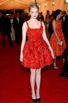 Emma Stone at the 2012 Met Gala