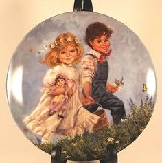 Jack and Jill Reco Collector Plate 1986 Boy Girl Mother Goose Series Nursery