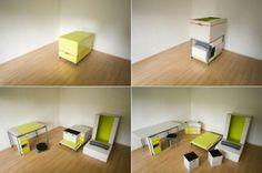 Tiny Box Hiding Furnishings - http://www.decorationhunt.com/architecture/tiny-box-hiding-furnishings/