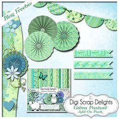 Green Pastures Digital Scrapbook Kit in Blue by DigiScrapDelights #digitalscrapbooking #biblejournaling