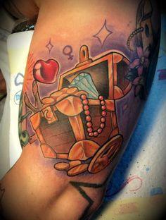 treasure chest tattoo by ArturNakolet.deviantart.com on @DeviantArt