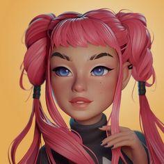 3d Model Character, Female Character Design, Character Design Inspiration, Character Art, Anime Drawing Styles, Dark Pictures, 3d Girl, Art Station, Cg Art