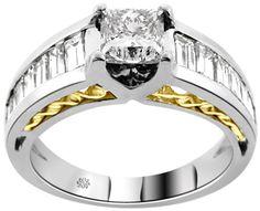 2.50 Carat Nedra Diamond 14Kt White Yellow Gold Engagement Ring - Fashion
