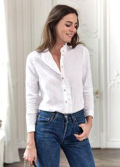 Sézane - Damon Shirt Winter Collection, Work Wear, Coat, Shirts, Style, Women, Products, Fashion, White People