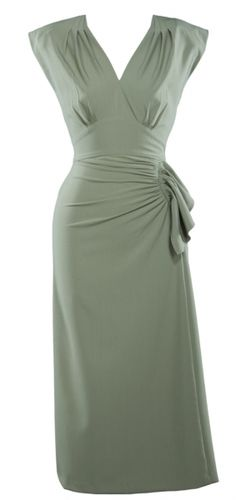 Perfect. Green wrap dress with sleeves! Extra flattering.Ahhh if only I was thin again.