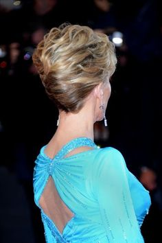 Icon Jane Fonda's fantastic, high volume chignon hairstyle. #Cannes2013