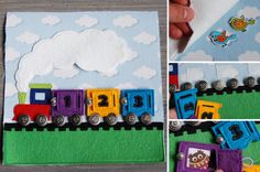 Quiet book page train with numbers by MirzaCrafts on Etsy