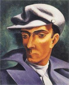 """Jose de Almada-Negreiros Self-Portrait      Não sou nada.      Nunca serei nada.      Não posso querer ser nada.      À parte isso, tenho em mim todos os sonhos do mundo.    """"TABACARIA"""" FERNANDO  PESSOA Poesias de Álvaro de Campos"""