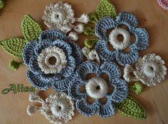 Exemplos de flores de malha