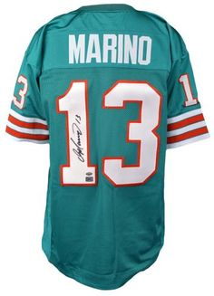 6eb503d31f8 Dan Marino Signed Custom Jersey - Football Memorabilia -  SportsMemorabilia.com Certified