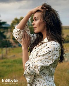 """""""There have been a lot of times in my life when I've had to suck stuff up and get on with it but this was by far the most challenging."""" Megan Gale opens up about love and loss in our February issue on sale now. Photographed by @hughstewartgallery. Styled by @msgreenygreen. @megankgale wears @dior shirt. via INSTYLE AUSTRALIA MAGAZINE OFFICIAL INSTAGRAM - Fashion Campaigns Haute Couture Advertising Editorial Photography Magazine Cover Designs Supermodels Runway Models"""