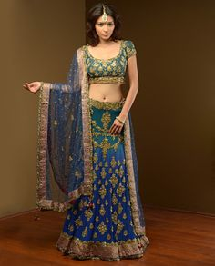 Beautiful Hand Embroidery Lehenga Is Available At www.ladyselection.com