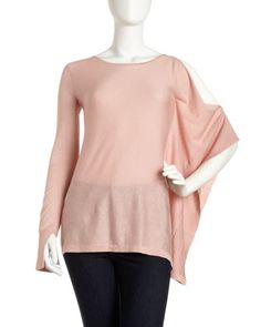 Scarf-Sleeve Top, Powder Pink by BCBGMAXAZRIA at Last Call by Neiman Marcus.