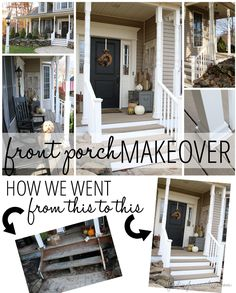 Front Porch Makeover on a budget - Enclose bottom half would make ours look so much better.