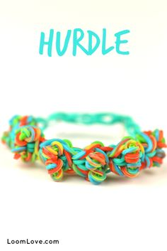 This unique Rainbow Loom Bracelet that we call the Hurdle is a LoomLove original. Check it out!