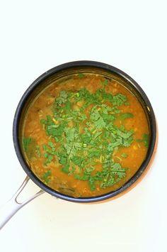 Punjabi Dal Fry Recipe. Easy Dal Fry with whole spices and garam masala. Lentil Dhal. Or use split peas. Vegan Gluten-free Soy-free Indian Recipe. | VeganRicha.com