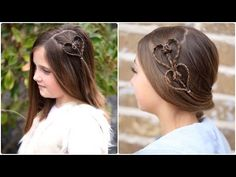 Cute Heart Accents | Valentine's Day Hairstyle #valentinesdayhair #hearthairstyle #hairstyles #hairstyle #cutegirlshairstyles