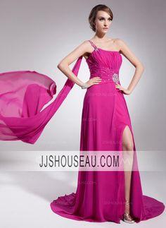 A-Line/Princess Regular Straps Sleeveless Chiffon Evening Dress Evening Dress