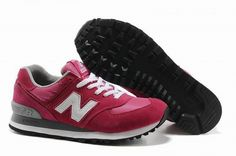 Joes New Balance 574 US574W Peach Red White Womens Shoes