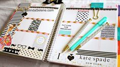 Erin Condren Kate Spade Inspired Weekly Page //Belinda Selene
