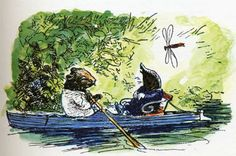 """Mole and Ratty - """"Believe me, my young friend, there is nothing - absolutely nothing - half so much worth doing as simply messing about in boats."""""""